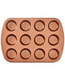 Nonstick Copper 12-Cup Muffin Pan