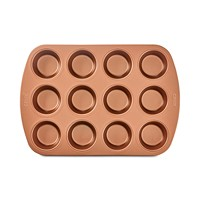 Deals on Crux Nonstick Copper 12-Cup Muffin Pan