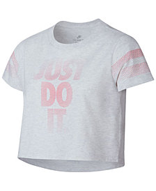 Nike Big Girls Just Do It Graphic Crop-Top Cotton T-Shirt
