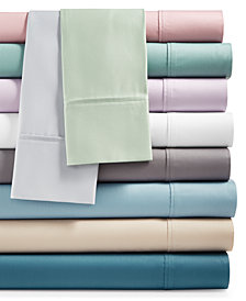 AQ Textiles Monroe 4-Pc. Solid Sheet Sets, 1000 Thread Count Egyptian Blend