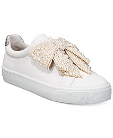 I.N.C. Women's Sanice Bow Sneakers, Created for Macy's