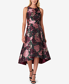 Tahari ASL Metallic Jacquard Midi Dress