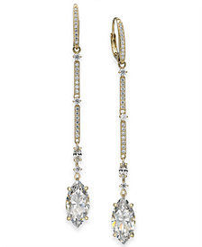 Danori Crystal Linear Drop Earrings, Created for Macy's