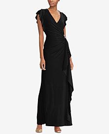 Lauren Ralph Lauren Ruffled Jersey Gown