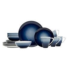 Mikasa Naya Blue 16-Pc. Dinnerware Set, Service for 4