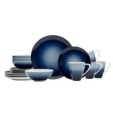 Mikasa Naya Blue 16-Pc. Dinnerware Set, Service for 4