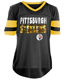 5th & Ocean Pittsburgh Steelers Foil Football Jersey, Girls (4-16)