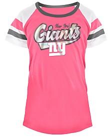 5th & Ocean New York Giants Pink Foil T-Shirt, Girls (4-16)