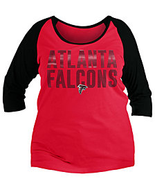 5th & Ocean Women's Atlanta Falcons Plus Size Colorblock Raglan T-Shirt