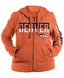 5th & Ocean Women's Denver Broncos Plus Glitter Block Hoodie