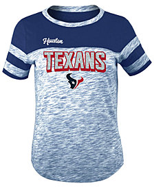 5th & Ocean Houston Texans Space Dye Glitter T-Shirt, Girls (4-16)