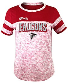 Atlanta Falcons Space Dye Glitter T-Shirt, Girls (4-16)