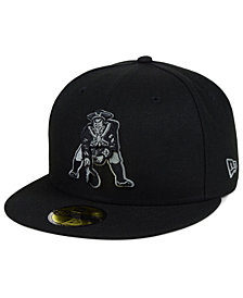 New Era New England Patriots Black Gray Basic 59FIFTY FITTED Cap