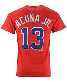 Majestic Men's Ronald Acuña Jr. Atlanta Braves Official Player T-Shirt