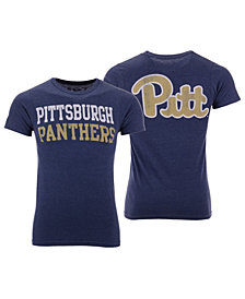 Retro Brand Men's Pittsburgh Panthers Team Stacked Dual Blend T-Shirt