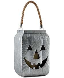 CLOSEOUT! Home Essentials Metal Jack-O-Lantern Candle Holder