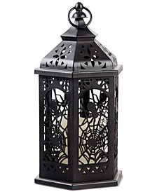 Home Essentials Spider Web LED Metal Lantern