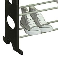 Home Basics 30 Pair Metal And Plastic Shoe Rack, Black
