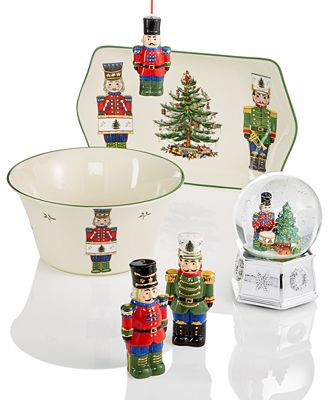 Bring The Splendor Of A Holiday Season Classic To Your Table With The Cheerful Look Of The Christmas Tree Nutcracker Dinnerware Collection From