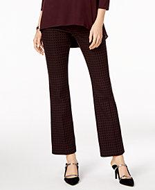 Alfani Tummy-Control Jacquard Trousers, Created for Macy's