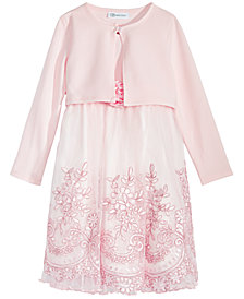 Bonnie Jean Toddler Girls 2-Pc. Cardigan & Embroidered Dress Set