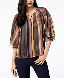 John Paul Richard Petite Striped Top