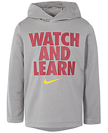 Nike Little Boys Dri-FIT Watch and Learn Graphic Pullover Hoodie