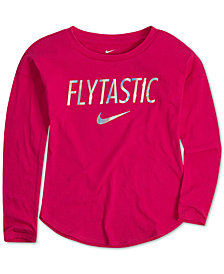 Nike Little Girls Flytastic-Print Cotton T-Shirt