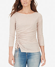 WILLIAM RAST Noa Ruched Striped T-Shirt