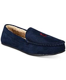 Ralph Lauren Men's Dezi Micro-Suede Slippers