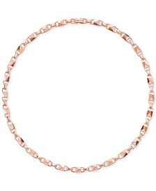 Michael Kors Women's Mercer Link Sterling Silver Necklace