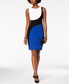 Kasper Colorblocked Sheath Dress