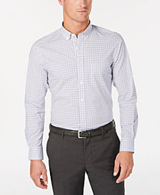 Club Room Men's Micro-Windowpane Performance Shirt, Created for Macy's