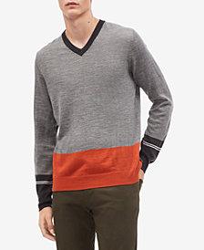 Calvin Klein Men's Colorblocked V-Neck Sweater