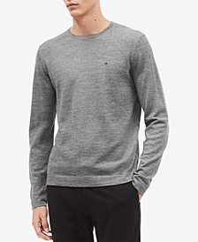 Calvin Klein Men's Solid Crewneck Sweater