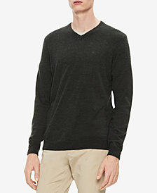 Calvin Klein Men's Solid V-Neck Sweater