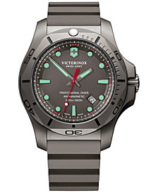 Victorinox Swiss Army Men's Swiss I.N.O.X Professional Diver Gray Rubber Strap Watch 45mm
