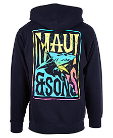 Maui and Sons Men's Twisted Slice Logo-Print Hoodie
