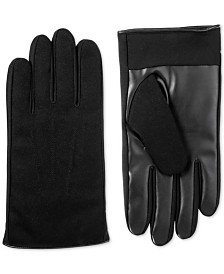 Isotoner Men's Faux-Leather Driving Gloves