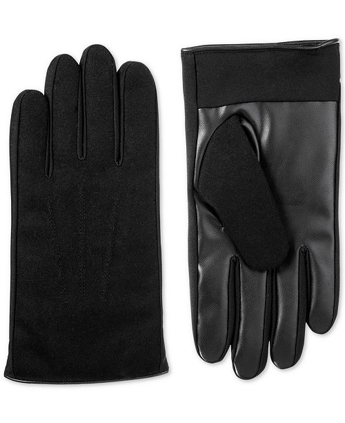Isotoner Signature Men's Faux-Leather Driving Gloves