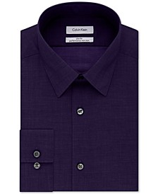 Non-Iron Slim-Fit Herringbone Solid Performance Dress Shirt