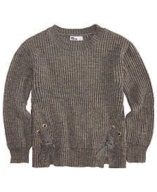 Epic Threads Big Girls Lace-Up Sweater, Created for Macy's