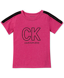 Calvin Klein Big Girls Sequin-Trim T-Shirt