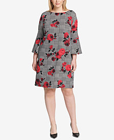 Jessica Howard Plus Size Floral-Print Sheath Dress