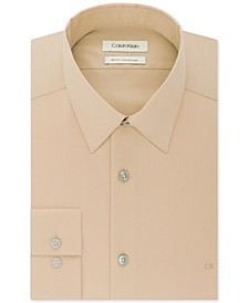 Men's Slim-Fit Stretch Flex Collar Solid Logo Dress Shirt, Created for Macy's