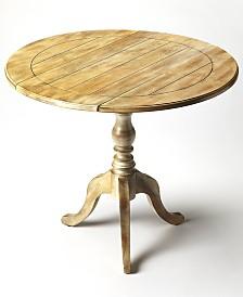 Dunlay Drop-Leaf Side Table, Quick Ship