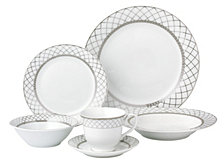 Lorren Home Trends Verona 24-Pc. Dinnerware Set, Service for 4