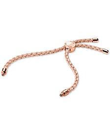 Michael Kors Women's Custom Kors Sterling Silver Cord Bracelet