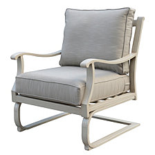 Courtyard Casual Torino Aluminum Outdoor C-Spring Club Chair