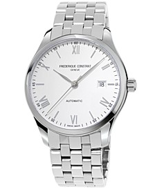 Men's Swiss Automatic Classic Index Stainless Steel Bracelet Watch 40mm